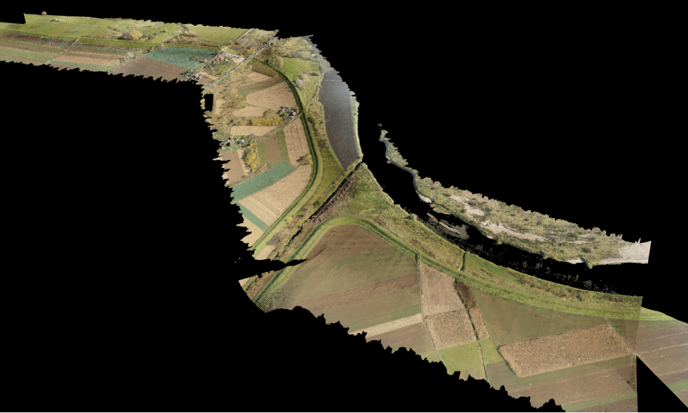 One of our lidar missions - Vistula river near Cracow, Poland.
